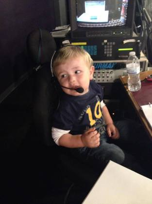 "Matthew, 2.5, ""calling his first show."""